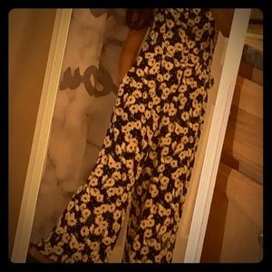 This is a sunflower jumpsuit